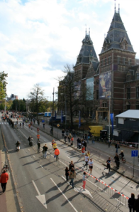 Amsterdam Marathon at the Rijksmuseum