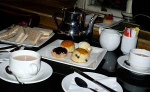 Afternoon Tea at Olives in the Hotel Bailey on Gloucester Road (SW7) in London