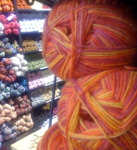 Peek at the yarn selection at Vibes & Scribes on Lavitt's Quay, Cork City.
