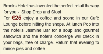 Shop, Drop & Stop at Brooks Hotel