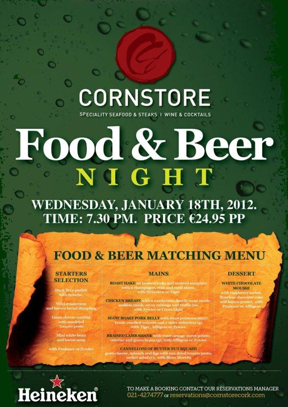 Cornstore January 2012 Food & Beer Night