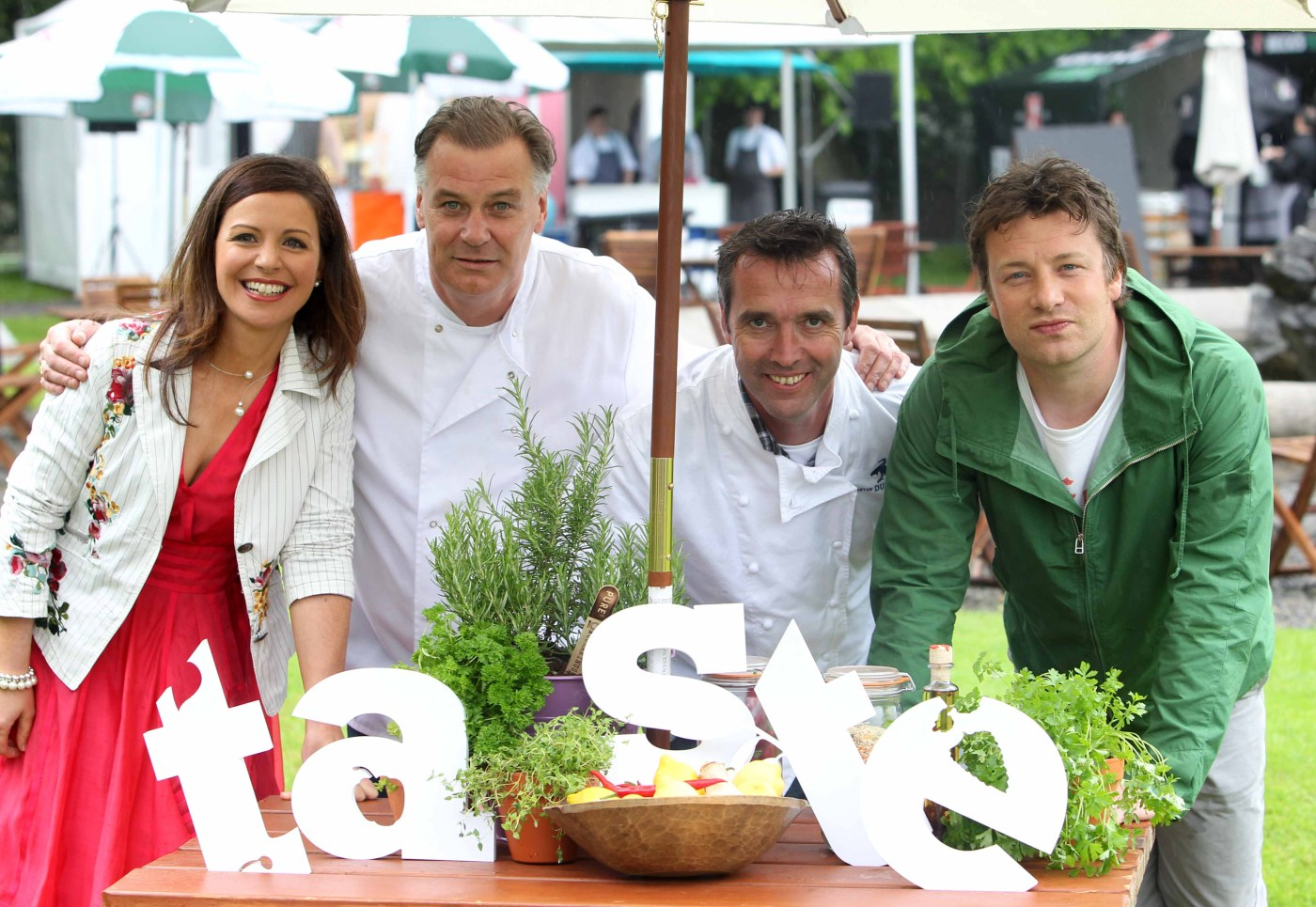 Catherine, Derry, Kevin and Jamie kicking off Taste of Dublin 2012