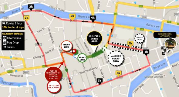 Run in the Dark Cork 2015 route