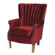 Homesense_Maroon Velvet Chair_€269.99
