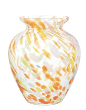 Homesense_Orange and Yellow Glass Vase_€16.99