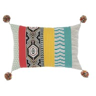 Homesense_Patterned Cushion with PomPoms_€26.99
